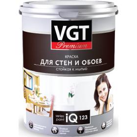 Краска моющаяся для стен и обоев iQ123